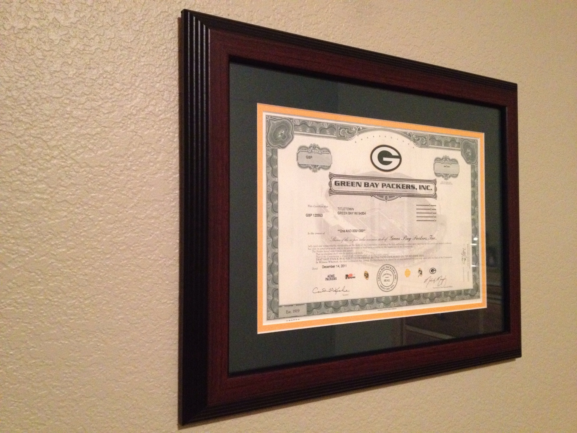 Cherry Frame - Green Bay Packers Stock FrameGreen Bay Packers Stock ...